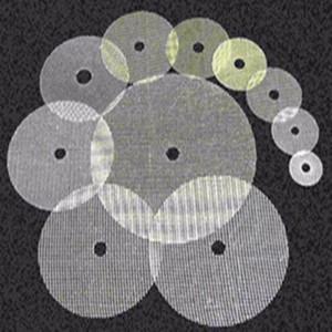 Grinding wheel mesh fabrics and discs