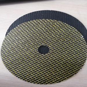 Fiberglass abrasive resistant cutting reinforced net